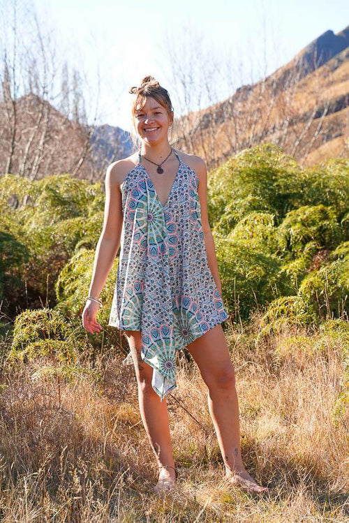 Sunshine Freedom Top-CLOTHING / TOPS-Sunshine (THA)-V+S Thistle Sprig-White-The Outpost NZ