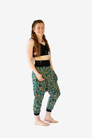 Sunshine Jaymin Pants-CLOTHING / PANTS-Sunshine (THA)-Deco Garden-Green-The Outpost NZ
