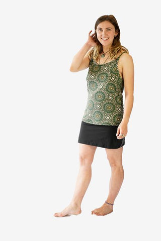 Sunshine Tri Strap Top-CLOTHING / TOPS-Sunshine (THA)-Petal Mandala-Green-The Outpost NZ