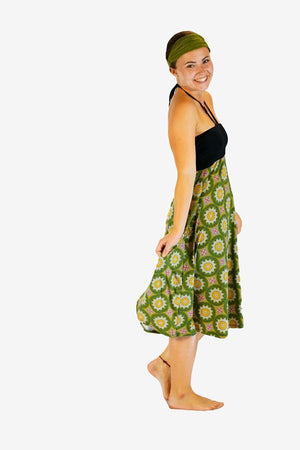 Sunshine Two way Skirt-CLOTHING / SKIRT-Sunshine (THA)-Leaf Mandala-Green-The Outpost NZ