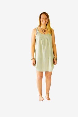 Sweet Cotton Dress-CLOTHING / DRESS-Choice Fashion (NEP)-Pistachio-The Outpost NZ