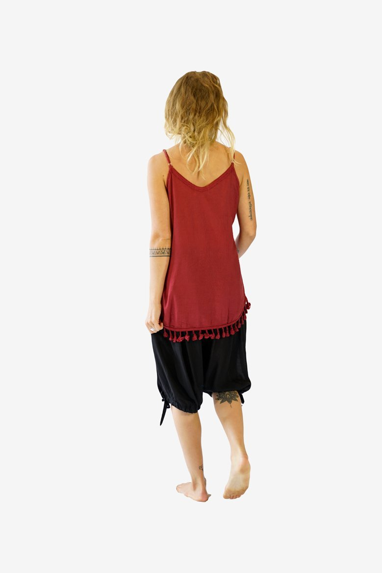 Tassie Top-CLOTHING / TOPS-Porchongcharoengarment (THA)-Maroon-The Outpost NZ
