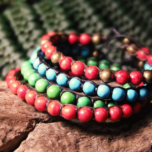 Tega Bead Bracelet-JEWELLERY / BRACELET-Market (THA)-Mixed-Multi-The Outpost NZ