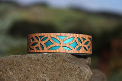 Tivaevae Narrow Cuff-NZ JEWELLERY-Jill Main (NZ)-Teal-The Outpost NZ