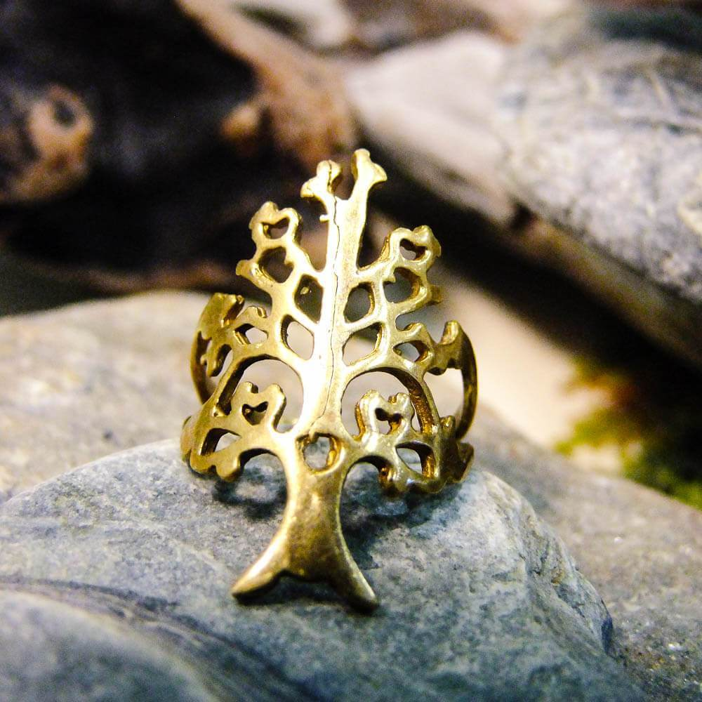 Tree Brass Ring-RINGS-Not specified-The Outpost NZ
