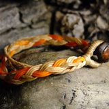 Tri Strand Wax Bracelet-JEWELLERY / BRACELET-M Square Collection (THA)-Orange-The Outpost NZ