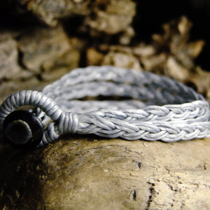 Tri Strand Wax Bracelet-JEWELLERY / BRACELET-M Square Collection (THA)-Grey-The Outpost NZ