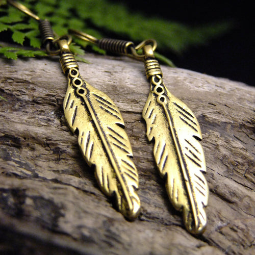 Tribal Feather Earring-JEWELLERY / EARRINGS-Not specified-The Outpost NZ