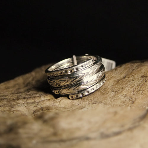 Twist Stack Silver Ring-JEWELLERY / RINGS-Jewelery Center (THA)-52-The Outpost NZ