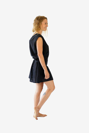 Two Pocket Cotton Dress-CLOTHING / DRESS-Choice Fashion (NEP)-Black-The Outpost NZ