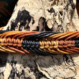 Waxed Bracelet-JEWELLERY / BRACELET-Wattanaporn (THA)-Brown/Black-The Outpost NZ