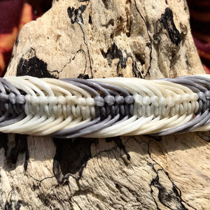 Waxed Bracelet-JEWELLERY / BRACELET-Wattanaporn (THA)-Grey-The Outpost NZ