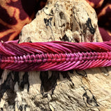 Waxed Bracelet-JEWELLERY / BRACELET-Wattanaporn (THA)-Pink/Purple-The Outpost NZ