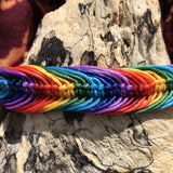 Waxed Bracelet-JEWELLERY / BRACELET-Wattanaporn (THA)-Rainbow-The Outpost NZ