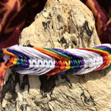Waxed Bracelet-JEWELLERY / BRACELET-Wattanaporn (THA)-White Rainbow-The Outpost NZ