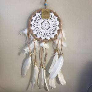 White Crochet Dreamcatchers-HOMEWARES-Iyada Shop (THA)-White-The Outpost NZ