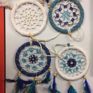 Wrapped Dreamcatchers-HOMEWARES-Chart (THA)-Cotton-12 cm-White-The Outpost NZ