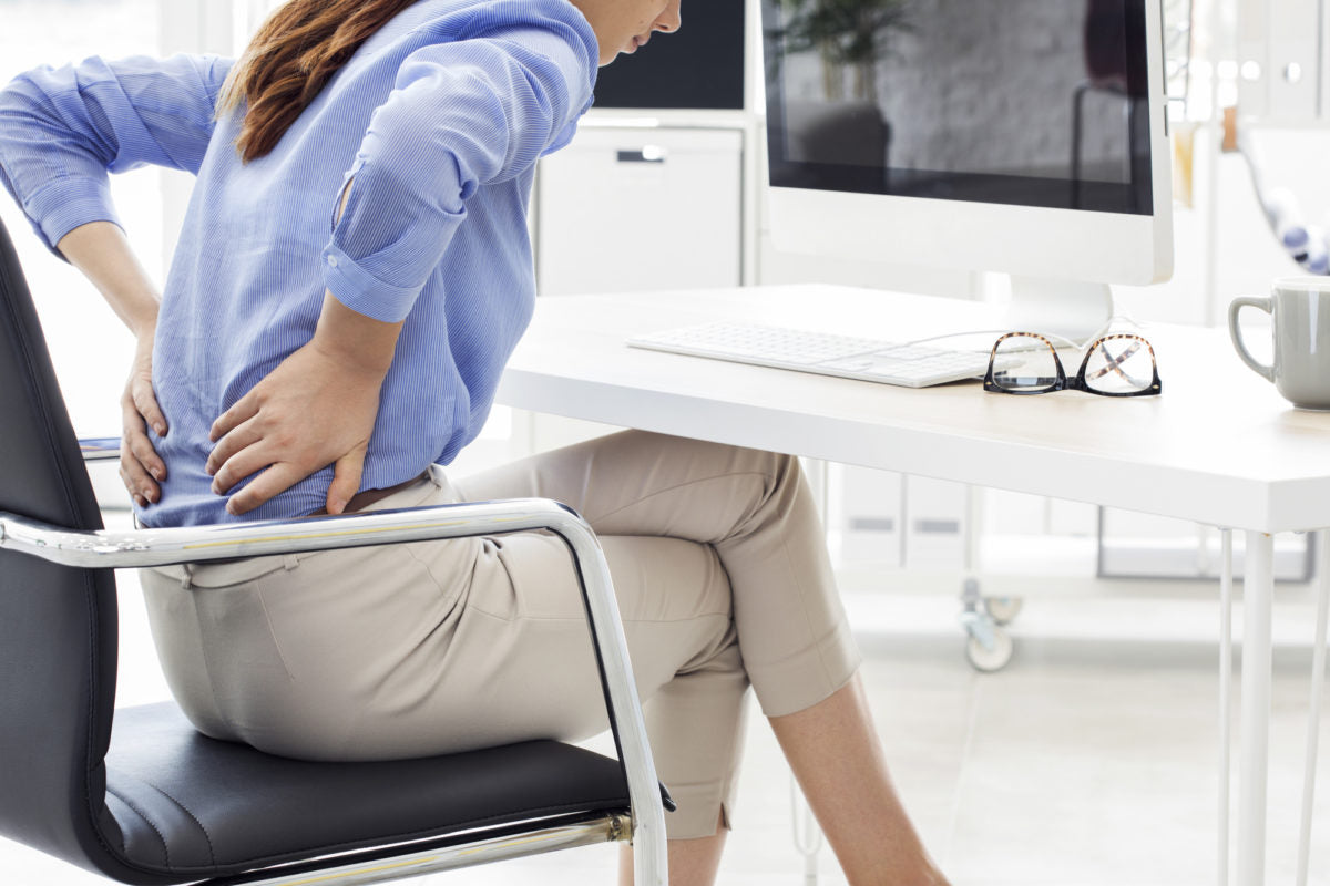 lower back pain sitting with poor posture