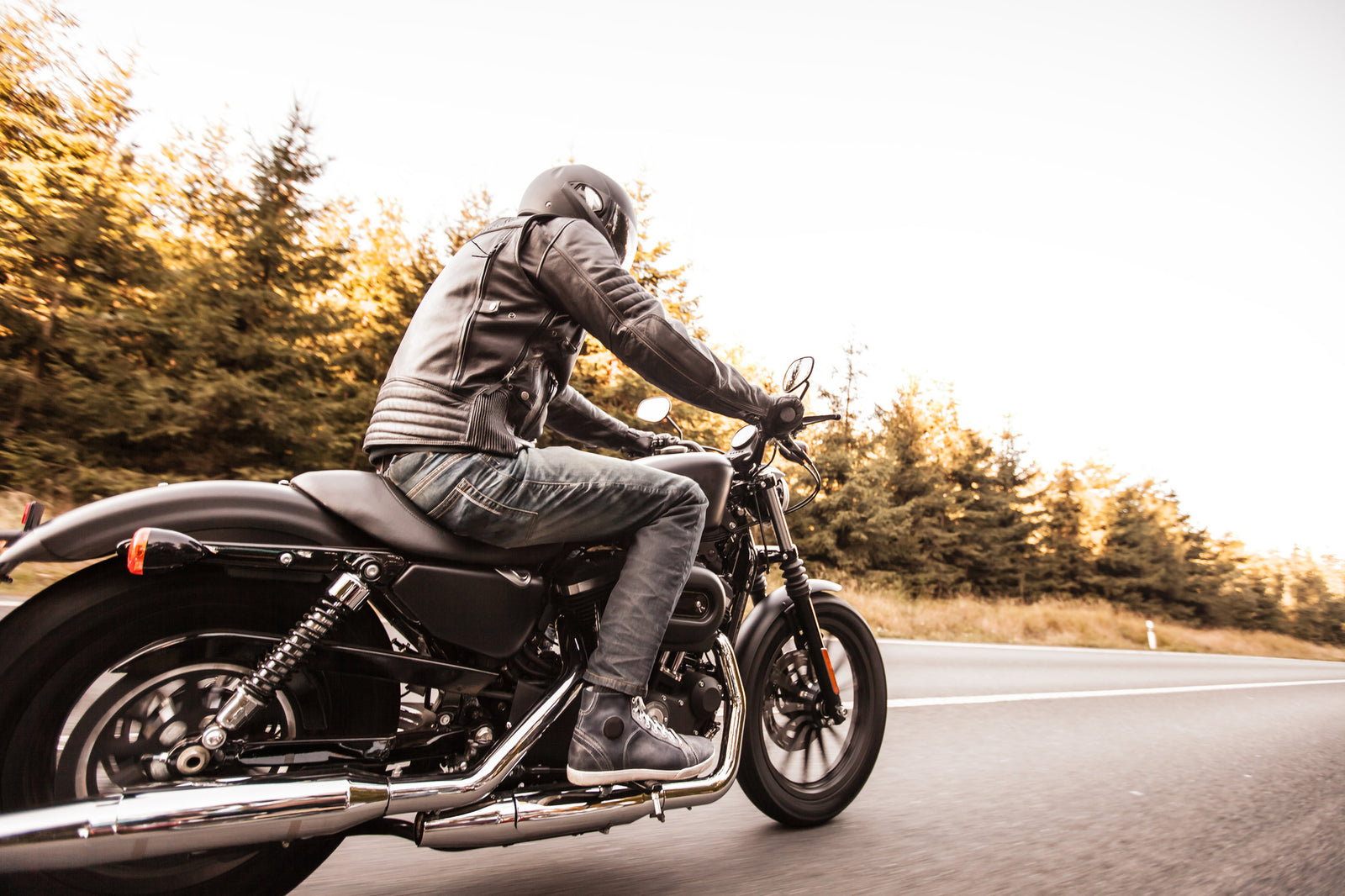 Riding a motorcycle is a fun and enjoyable activity.