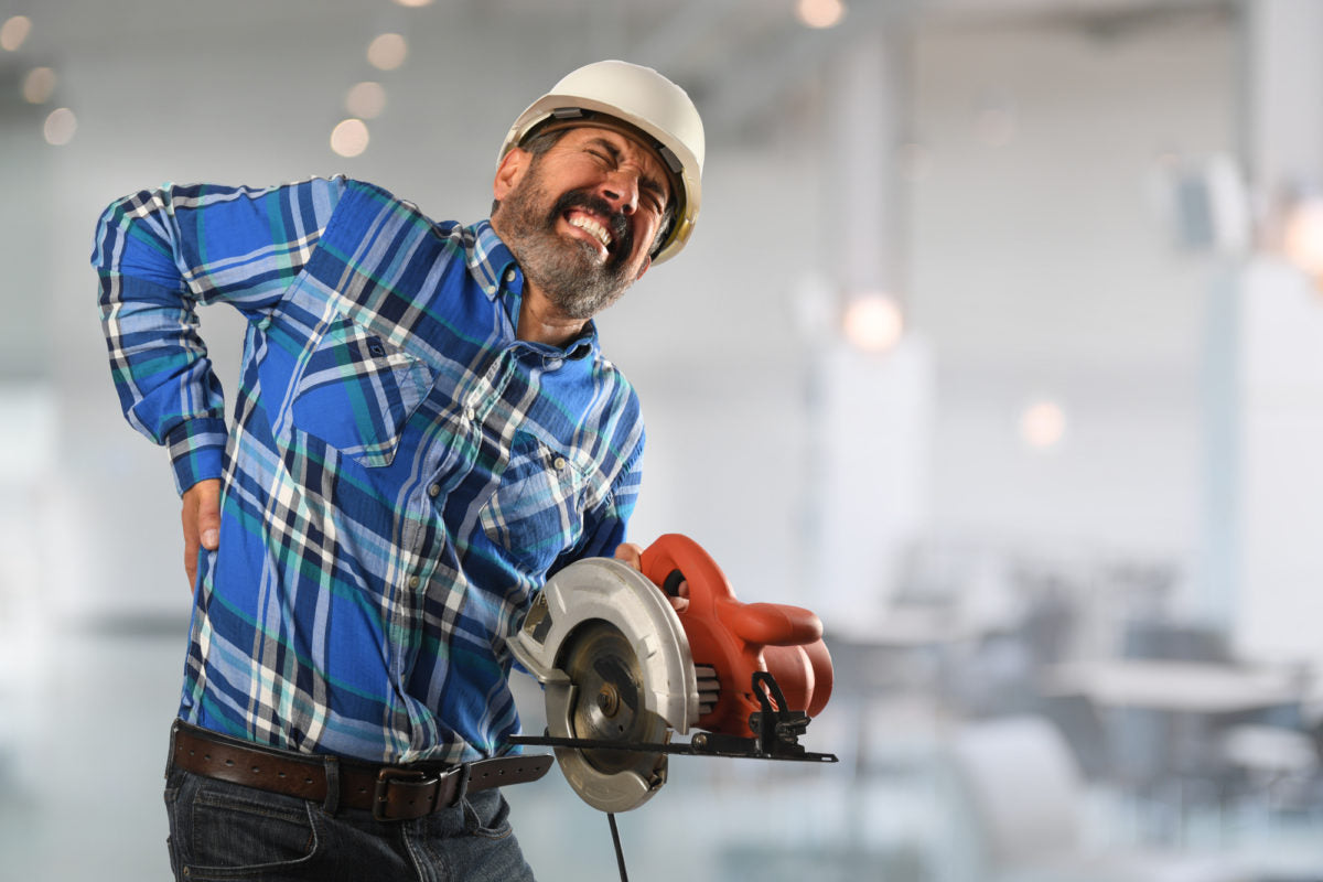 7 things construction workers can do to avoid back pain back a line