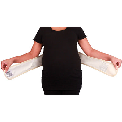 Baby Your Back Maternity Belly Band with Orthopedic Lumbar Pad, How to wear
