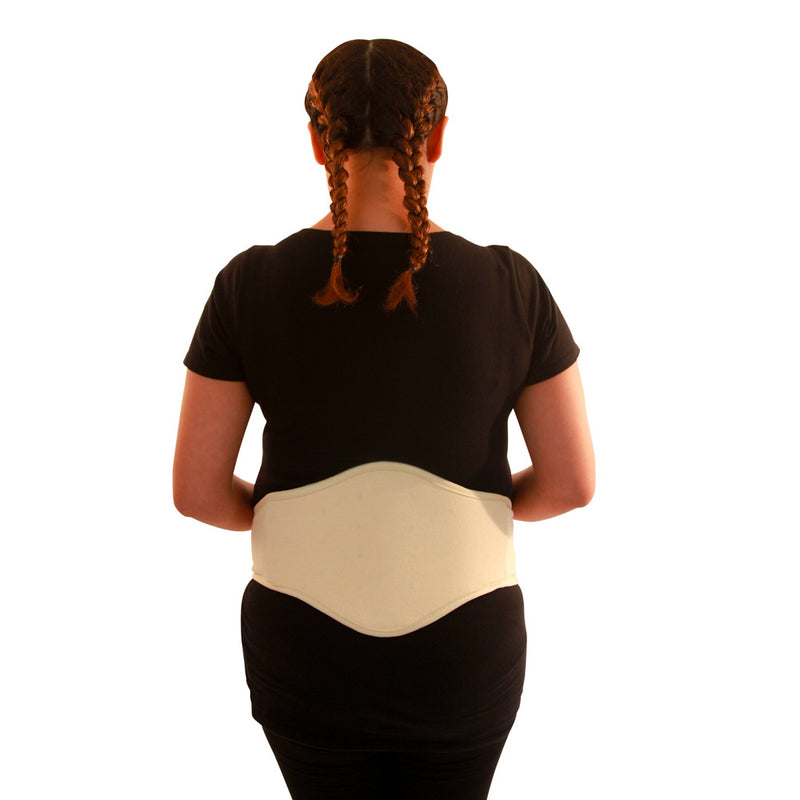 Baby Your Back Maternity Belly Band with Orthopedic Lumbar Pad, Natural