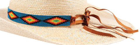 Suede Tie Closure Sunbody Hat Band