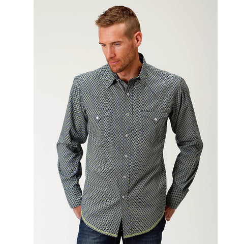 Roper Men's - West Made Collection Shirt Blue