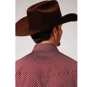 Roper Men's - Amarillio Collection Shirt Red 03-001-0225-0773 RE back