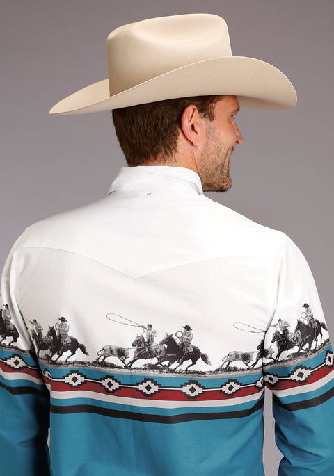 Roper Men's - West Made Collection Shirt White 01421326 back
