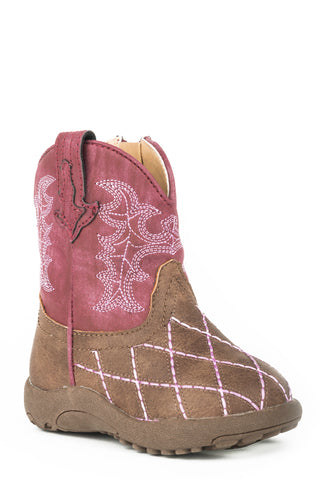 Roper Infant Cowbaby Boots Crosscut Raspberry