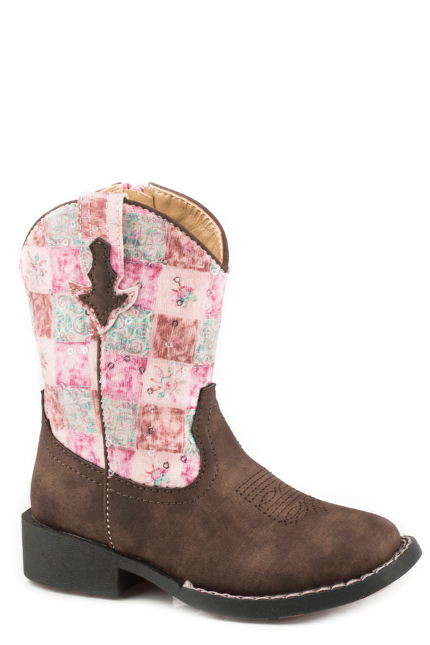 Roper Toddler Boots Floral Shine