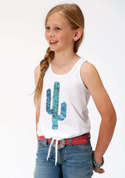Roper Girl's - Five Star Collection Tank White 03-009-0513-2057 WH