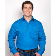 Just Country Workshirt Men's Cameron Blue Jewel 10101BJL