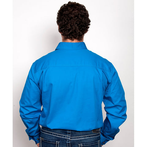 Just Country Workshirt Men's Cameron Blue Jewel 10101BJL back
