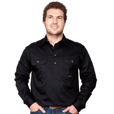 Just Country Workshirt Men's Cameron Black 10101BLK