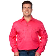 Just Country Workshirt Men's Cameron Hot Pink front