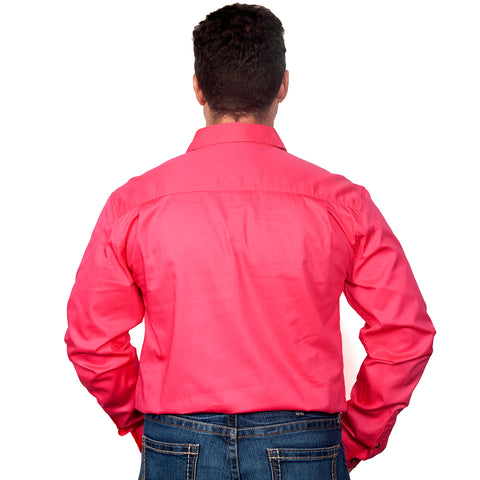 Just Country Workshirt Men's Cameron Hot Pink back