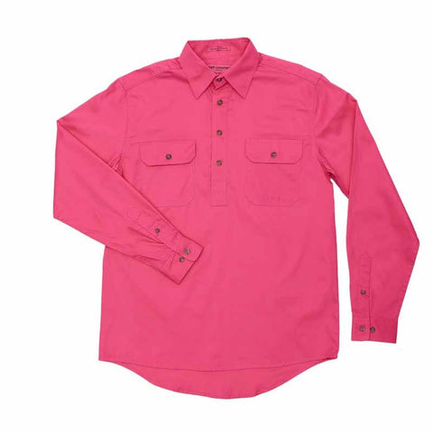 Just Country Workshirt Men's Cameron Hot Pink