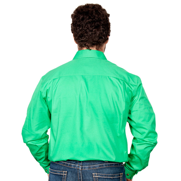 Just Country Men's - Cameron - 1/2 Button Ivy Green Back