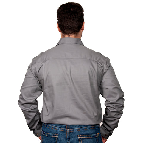 Just Country Men's - Cameron - 1/2 Button Steel Grey 10101STG back