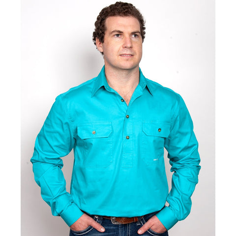 Just Country Workshirt Men's Cameron Turquoise 10101TUR