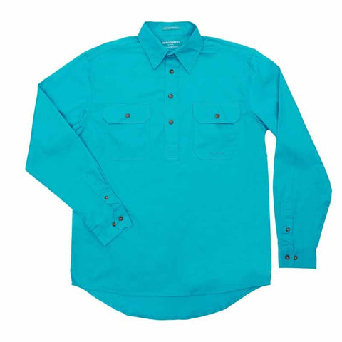 Just Country Workshirt Men's Cameron Turquoise