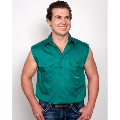 Just Country Workshirt Men's Jack Dark Green 10103DKG