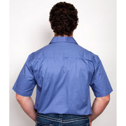 Just Country Workshirt Men's Adam Blue 10104BLU back