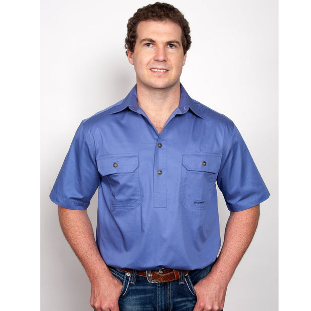 Just Country Workshirt Men's Adam Blue 10104BLU