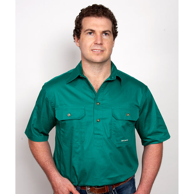 Just Country Workshirt Men's Adam Dark Green 10104DKG