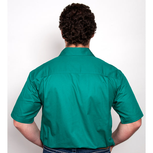 Just Country Workshirt Men's Adam Dark Green 10104DKG back