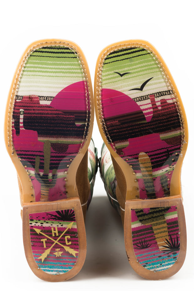 Tin Haul Women's On Point - Serape Sunset Sole 14-021-0077-1406 TA SOLE