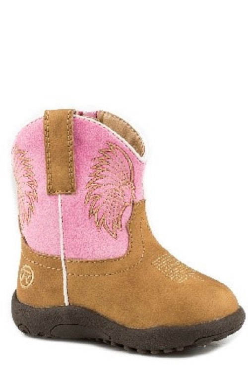 Roper Cowbaby Big Chief Tan / Pink